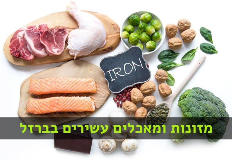 מאכלים עם ברזל